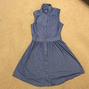 Jean Pattern Button Down Dress
